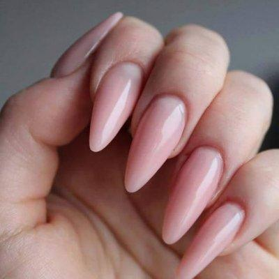 Маникюр розовый на длинные ногти