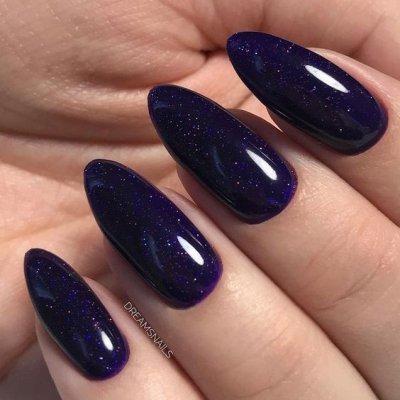 Маникюр темно фиолетовый