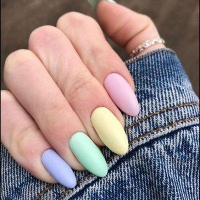 Разноцветный маникюр яркие цвета