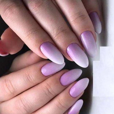 Маникюр омбре фиолетовый