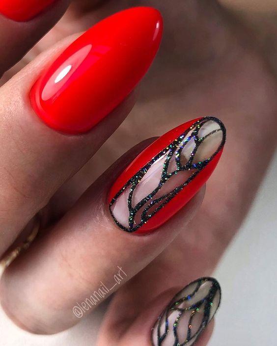 Красный маникюр с дизайном - Modnail.ru - Красивый маникюр