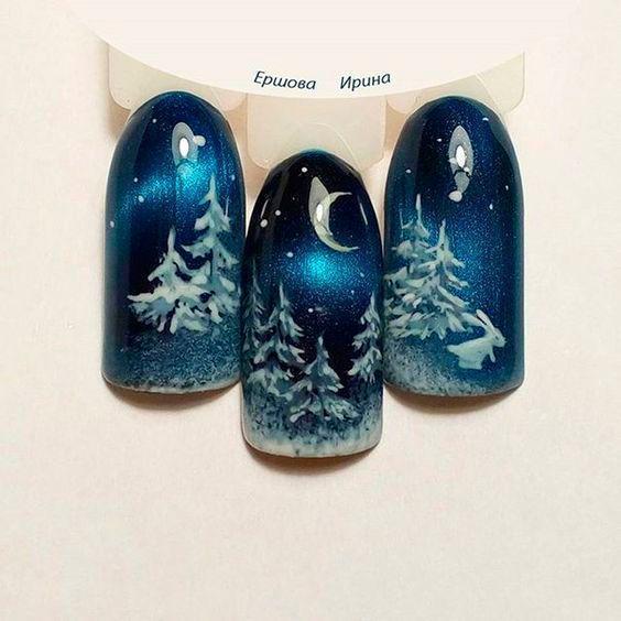 Синий дизайн к новому году