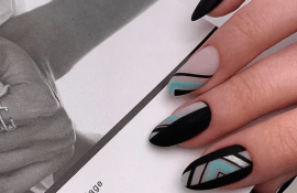 15+ новых идей невероятного черного маникюра для ногтей любой длины и формы!