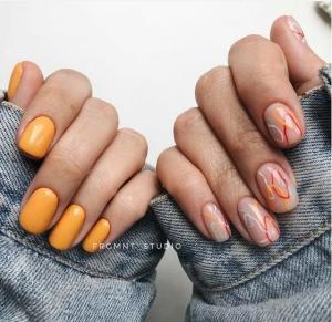 40 прозрачных ногтей с цветными акцентами: свежие и красивые идеи