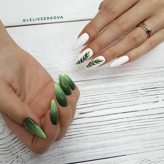 Эффектный градиент на ногтях в разных оттенках 2020