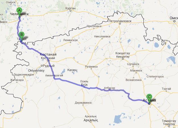 Узнать расстояние между городами на Anyroad