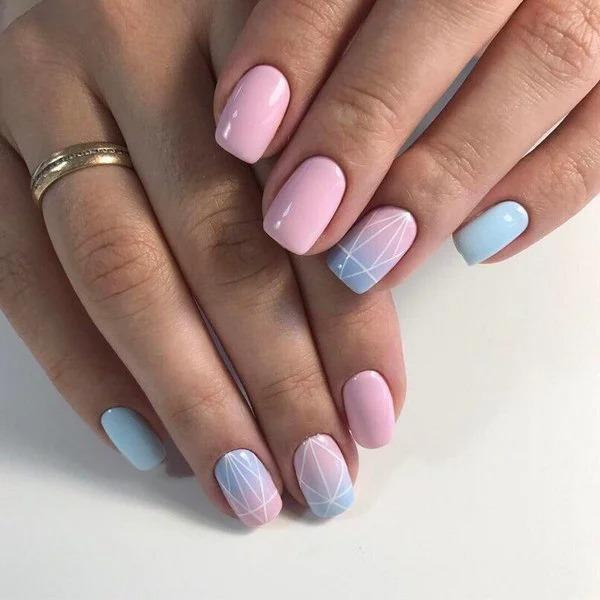 Маникюр - градиент: 12 идей нескучного дизайна для ногтей любой длины