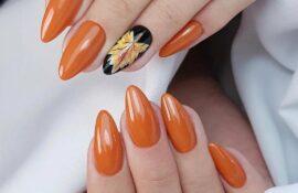 Оранжевая осень: 14 идей маникюра в сочном цвете