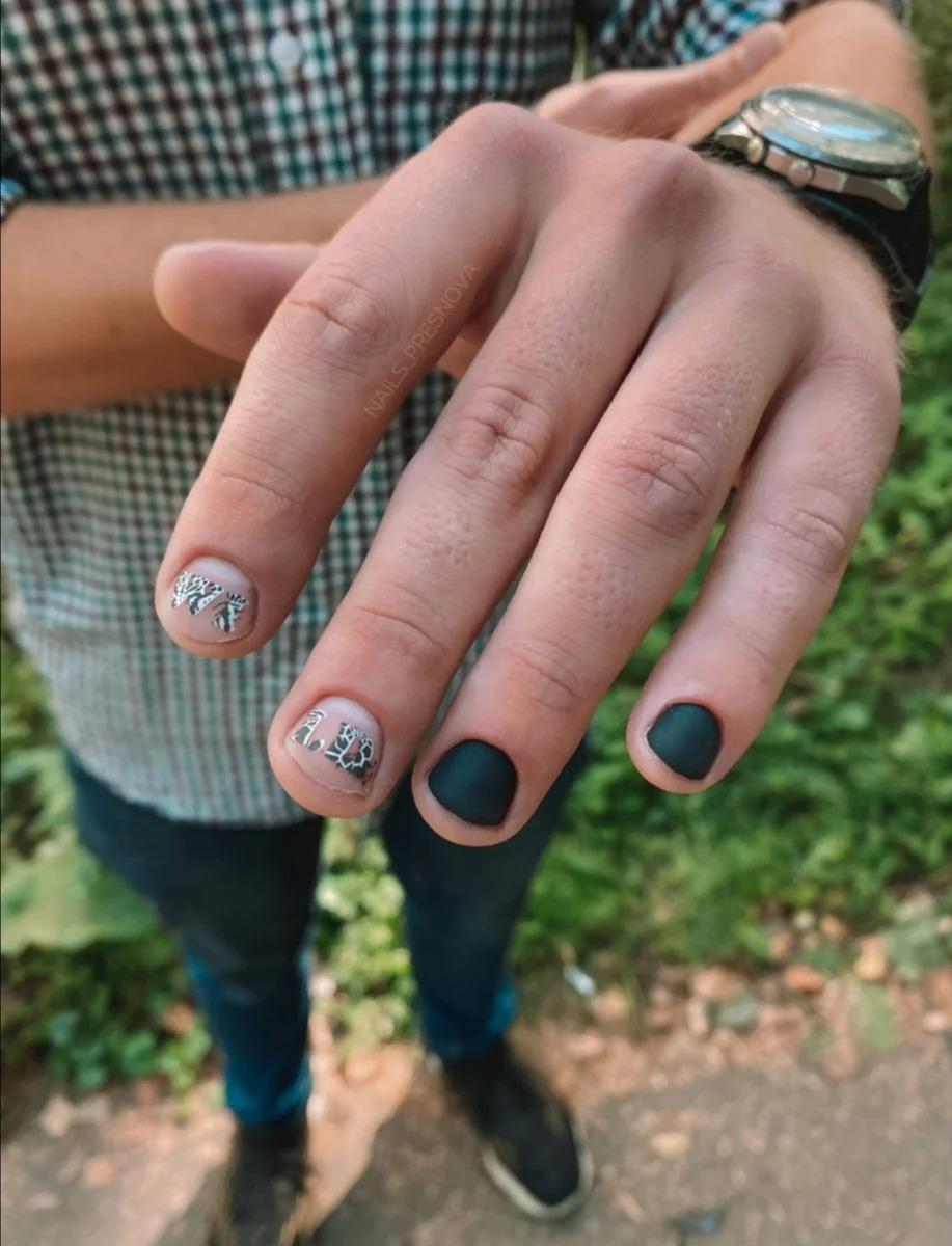 """В """"моду"""" входит мужской маникюр - декоративные ногти и стемпинг"""