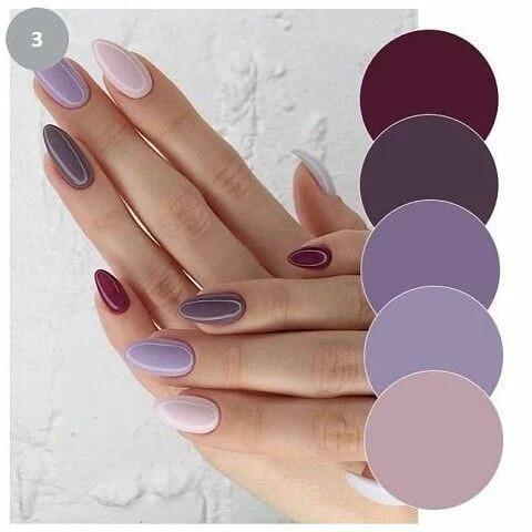 Ногти разного цвета. Подборка гармоничных сочетаний цветов для вашего маникюра.