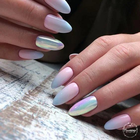 Жемчужные ногти: женственная классика. Подборка идей маникюра с перламутром.