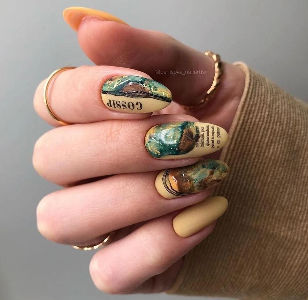 Яркий маникюр с броскими дизайнами. Идеи ногтей, очень красочные тона. Подборка фото 2021.