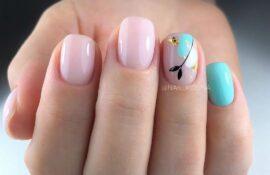 Ногти цвета мяты: 20 фото бирюзовых ногтей