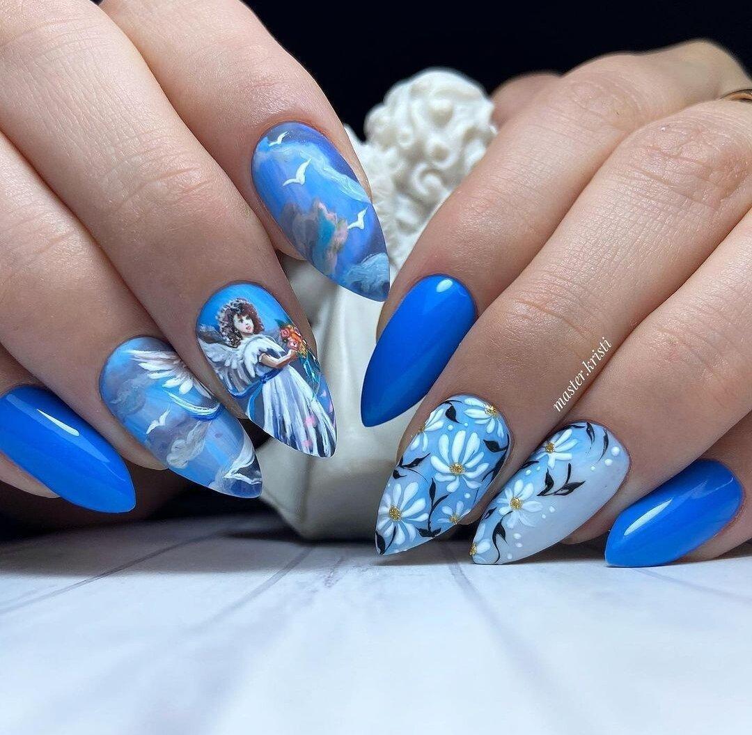 Маникюр как искусство: Рисунки на ногтях, невероятные дизайны, яркие оттенки, работы захватывающие дух. Подборка фото.
