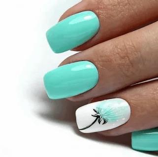 Летние дизайны маникюра 2021 на короткие ногти