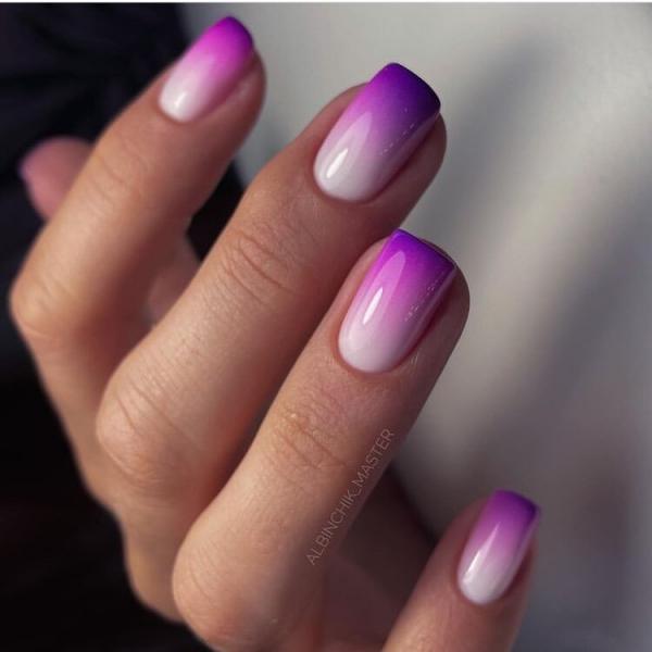Маникюрная подборка! Градиент на ногтях-мода этого лета.